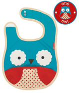 Skip Hop Zoo Bibs Tuck-Away Bib Owl Design