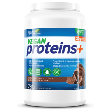 Genuine Health Vegan Proteins+ Powder Large Pack Natural Chocolate