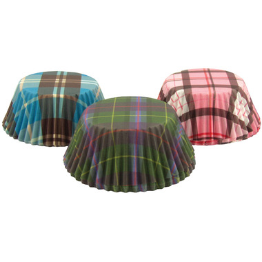Plaid Bake Cups