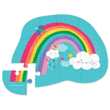 Crocodile Creek 12-Piece Mini Puzzle Rainbow