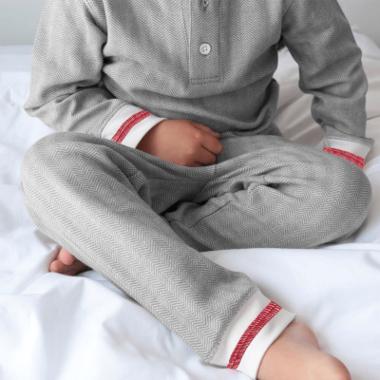 Juddlies Organic Cottage Pajamas Driftwood
