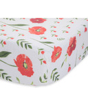 Little Unicorn Cotton Muslin Crib Sheet Summer Poppy