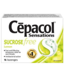 Cepacol Sensations Sugar Free Lozenges Lemon