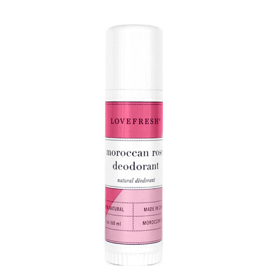 LOVEFRESH Moroccan Rose Natural Cream Deodorant Travel Stick