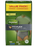 Depend for Men Underwear with FIT-FLEX Protection SM/MED