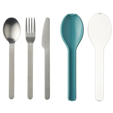 Mepal Ellipse Cutlery Set Nordic Green
