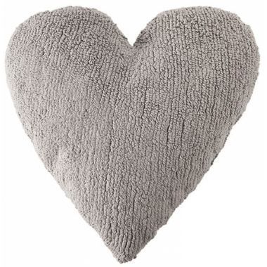 Lorena Canals Washable Cushion Light Grey Heart