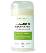 Scentuals 100% Natural Deodorant Stick Bergamot