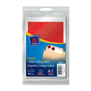 Avery Self-Adhesive Round Colour-Coding Labels