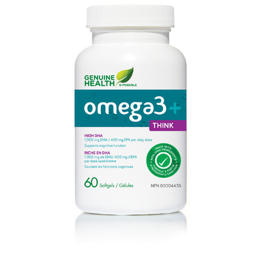 Genuine Health Omega3+ Think