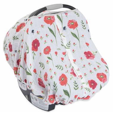 Little Unicorn Cotton Muslin Car Seat Canopy Summer Poppy