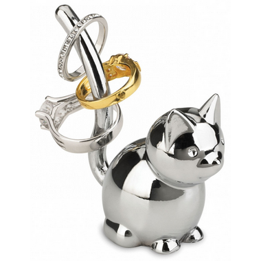 Umbra Zoola Cat Ring Holder in Chrome