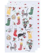 Now Designs Linges à vaisselle Bakers Floursack Meowy Christmas