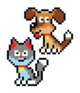 Fat Brain Toys Jixelz Playful Pets Pixel Puzzle
