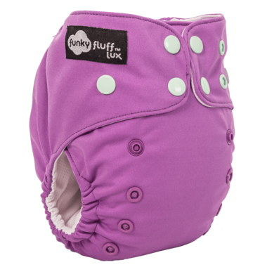 Funky Fluff Bamboo Diaper System I Like to Mauve It