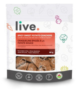 Live Organic Spicy Sweet Potato Crackers