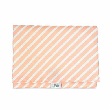 Logan and Lenora Waterproof Simple Change Pad Blush Stripe