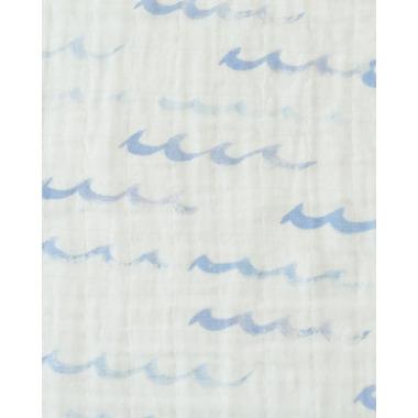 Little Unicorn Cotton Muslin Swaddle Blanket High Tide