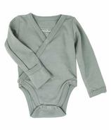 L'oved Baby Kimono Bodysuit Organic Seafoam