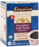 Teeccino Dandelion Dark Roast Roasted Herbal Tea