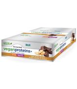 Barre de protéines végétaliennes fermentées Proteins+ au beurre d'arachides et au chocolat de Genuine Health