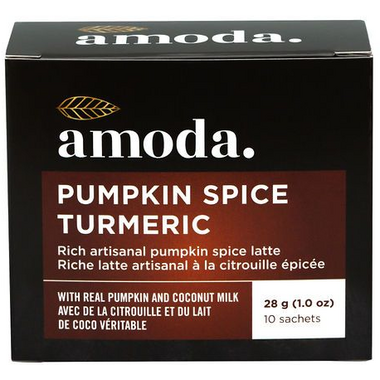 Amoda Pumpkin Spice Turmeric Rich Artisanal Latte