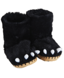 Hatley Kids Slippers Black Bear Paws
