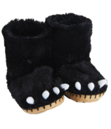 Hatley Little Blue House Kids Slippers Black Bear Paws