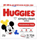 Huggies Simply Clean Unscented Baby Wipes Bulk Pack