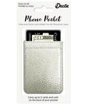 iDecoz Phone Pocket Silver Faux Leather