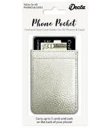 iDecoz Phone Pocket Silver Faux Leather