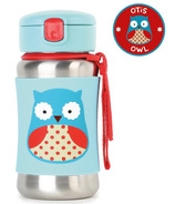 Skip Hop ZOO Stainless Steel Straw Bottle Owl