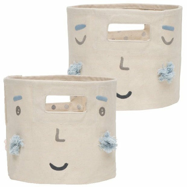 Petit Pehr Peek-A-Boo Faces & Hatched Dots Boy Mini