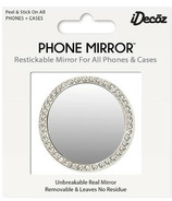 iDecoz Phone Mirror with Crystals Silver Circle