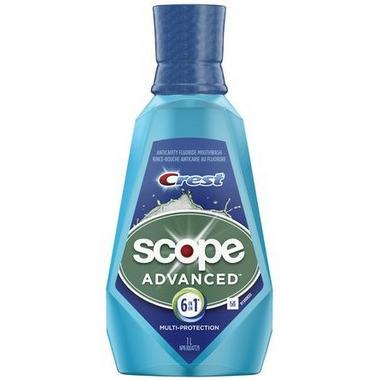 Crest Scope Advanced 6 in 1 Multi-Protection Mouthwash 1 L