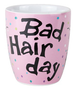 Hatley Little Blue House Curved Ceramic Mug - Bad Hair Day