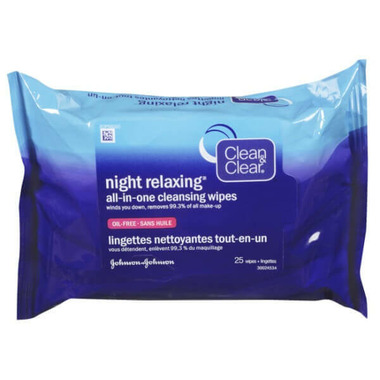 Clean & Clear Night Relaxing Cleansing Wipes All In One