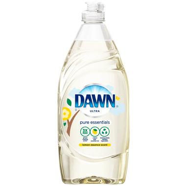 Dawn Pure Essentials Dishwashing Liquid Dish Soap Lemon Essence