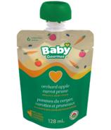 Aliment bio pour bébés avec pommes du verger, carottes et pruneaux de Baby Gourmet