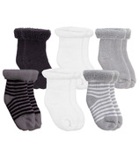 Kushies Newborn Terry Socks Grey