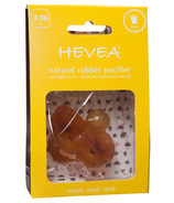 Hevea Round Natural Rubber Crown Pacifier