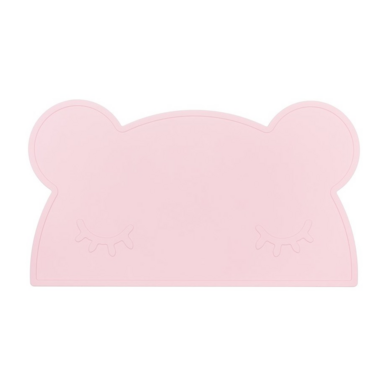 We Might Be Tiny Bear Placemat Powder Pink