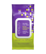 ANDALOU Naturals Age Defying Micellar One Step Facial Cleansing Swipes