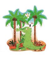 Scratch Contour Puzzle Crocodile