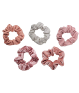 Kitsch Velvet Scrunchies Blush & Mauve