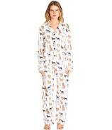 P.J. Salvage Playful Prints PJ Set With Mask Ruff Day Antique White