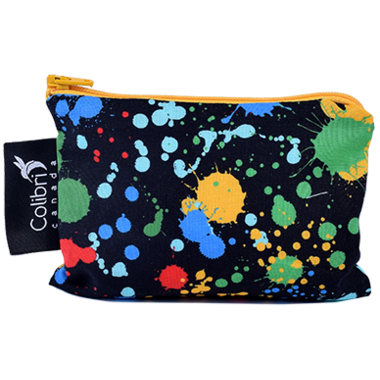 Colibri Reusable Snack Bag Small in Splatter