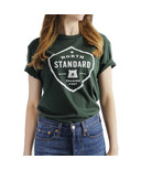North Standard Trading Post Unisex Shield Tee Forest + White