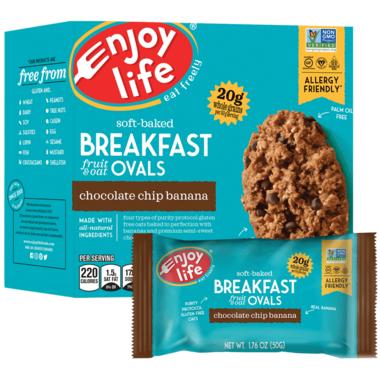 Enjoy Life Soft Baked Breakfast Ovals Banana Chocolate Chip