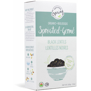 Second Spring Organic Sprouted Black Lentils